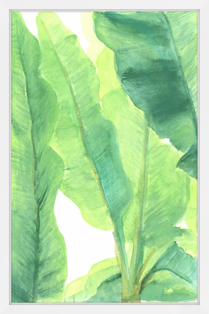 Wild Banana Leaves Framed Painting Print Tropical Prints And Posters By Marmont Hill