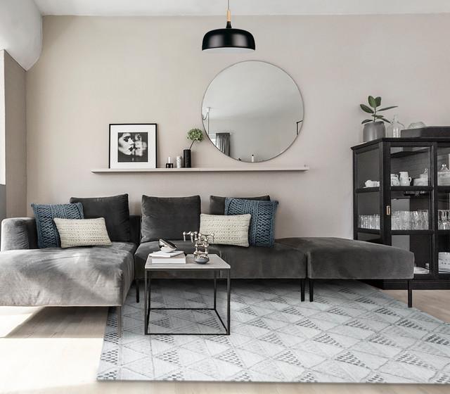 Ailyn Hand-Tufted Geometric Gray Rug, 8'x10'