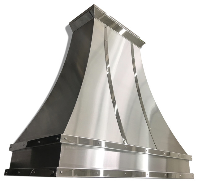 Gorgeous Mirrored Stainless Steel Range Hood