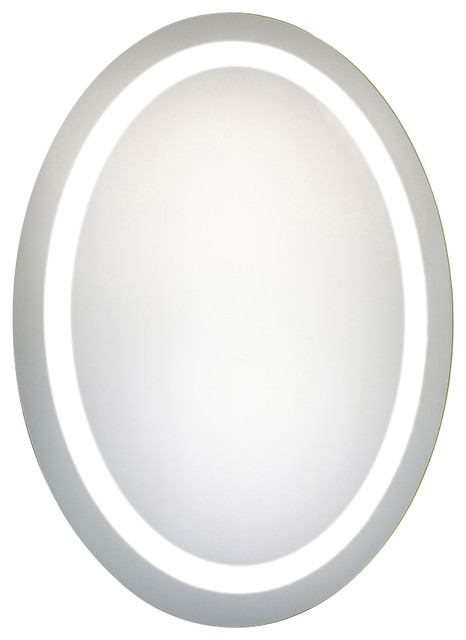 Led Hardwired Mirror Oval W23h30 Dimmable 5000k.