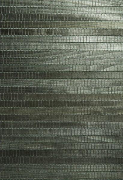 Michiko Green Grasscloth Wallpaper Bolt