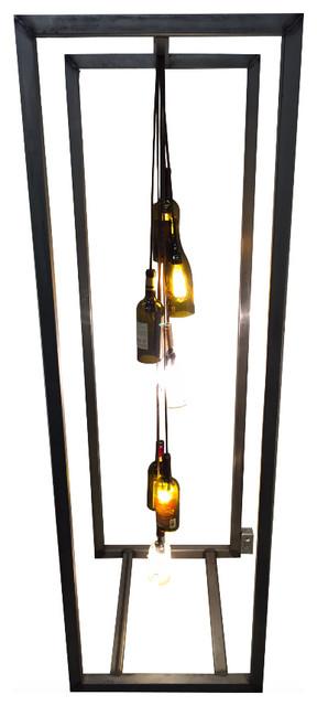 Steel Wine Bottle Lamp