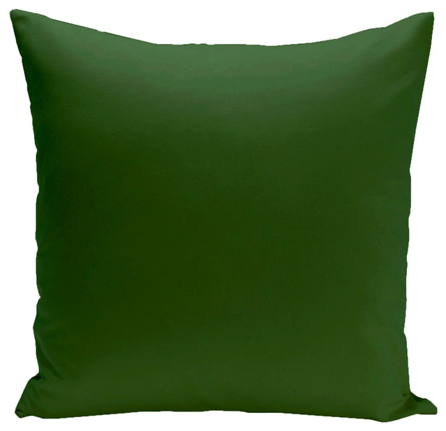 """Solid Print Pillow, Green, 18""""x18""""."""