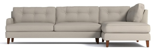 Virgil 2-Piece Sectional Sofa, Beige, Chaise On Left.