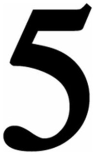 Village Wrought Iron Num 5 S Small Number 5 Black Transitional House Numbers By Unbeatablesale Inc