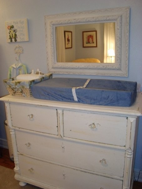 Antique white changing table dresser bestdressers 2017 Nursery chest of drawers with changer