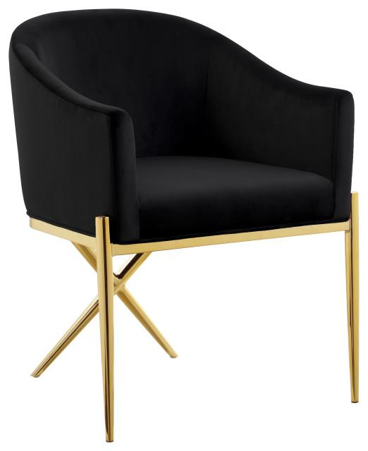 Xavier Velvet Dining Chair Midcentury