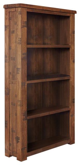 4 Shelf Heyford Rough Sawn Oak Open Bookcase