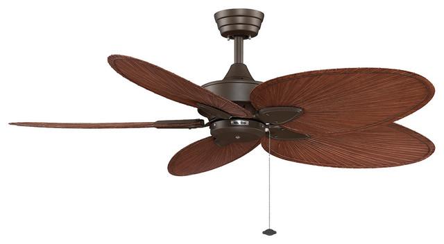 """Fanimation Windpointe 52"""" Oil-Rubbed Bronze Ceiling Fan W/ 5 Blades - Fp7500obp4."""