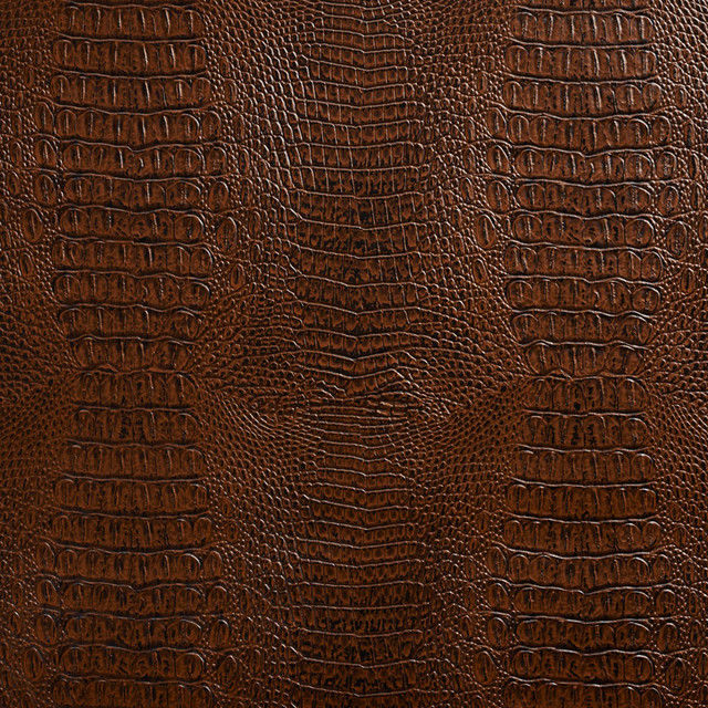 Brown Crocodile Faux Leather Vinyl By The Yard