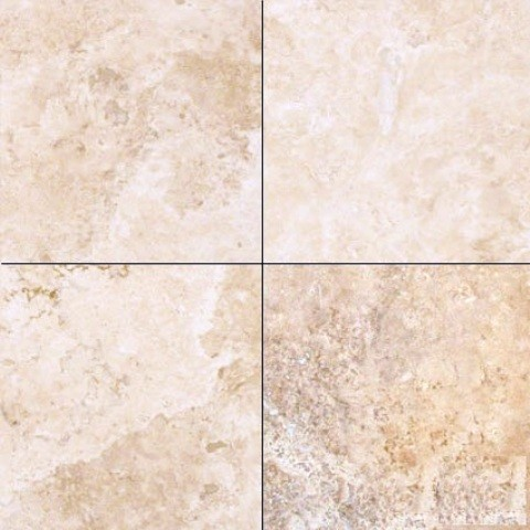 Honed Filled Durango Antique Travertine Tile Cream And Beige Sample