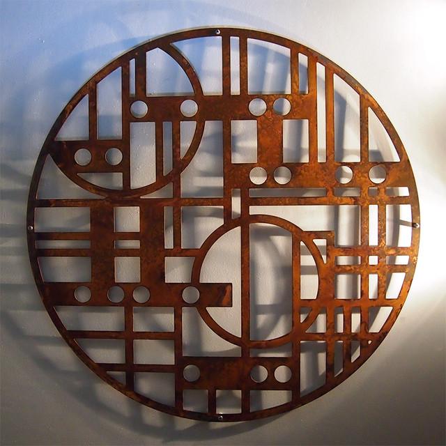 Rusted steel wall art modern