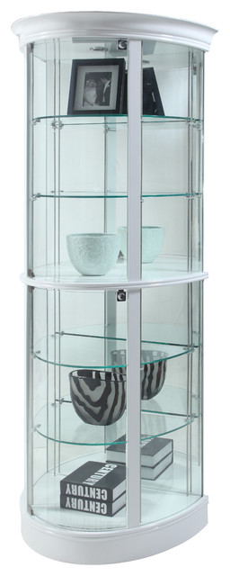 Arthurian Tempered Glass Curio Cabinet - Contemporary - China Cabinets And Hutches - by Chintaly ...