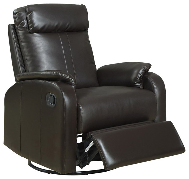 Monarch Specialties 8081X Swivel Rocker Recliner  : transitional recliner chairs from www.houzz.com size 640 x 606 jpeg 53kB