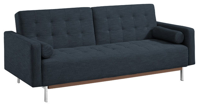 Fabric Sofa Bed With Slip Back Gray