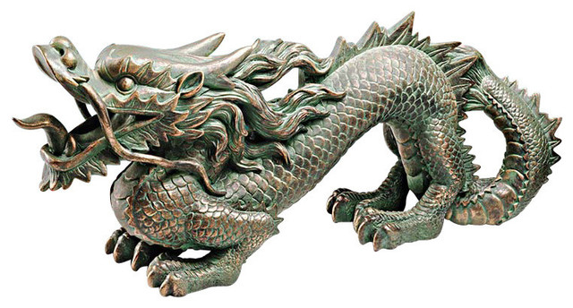 Asian Dragon of the Great Wall Statue Asian Garden Statues And