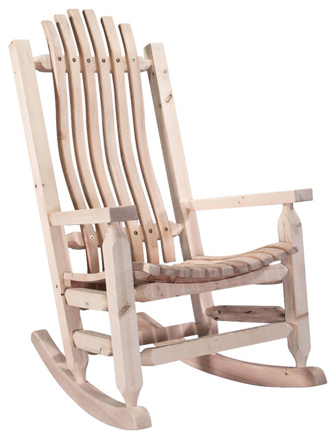 Solid Wood Rocking Chair Rustic Chairs By ShopLadder