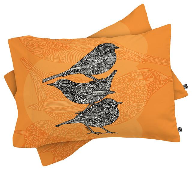 Deny Designs Valentina Ramos 3 Little Birds Pillow Shams King Contemporary Pillowcases And Shams By Deny Designs