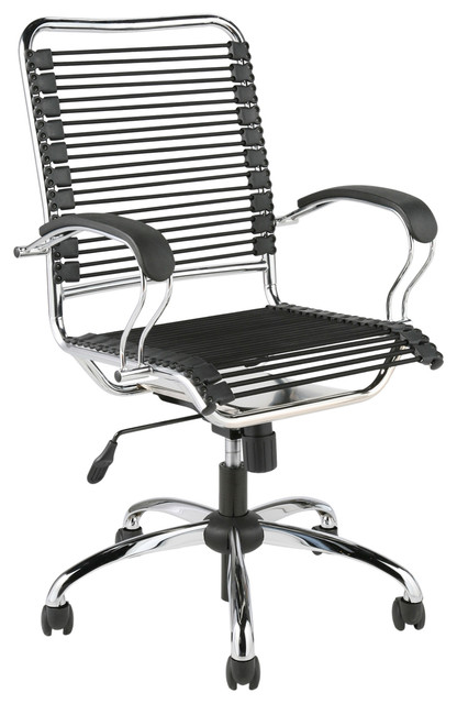 Contemporary Office Chair eurostyle bungie j arm office chair in black & chrome