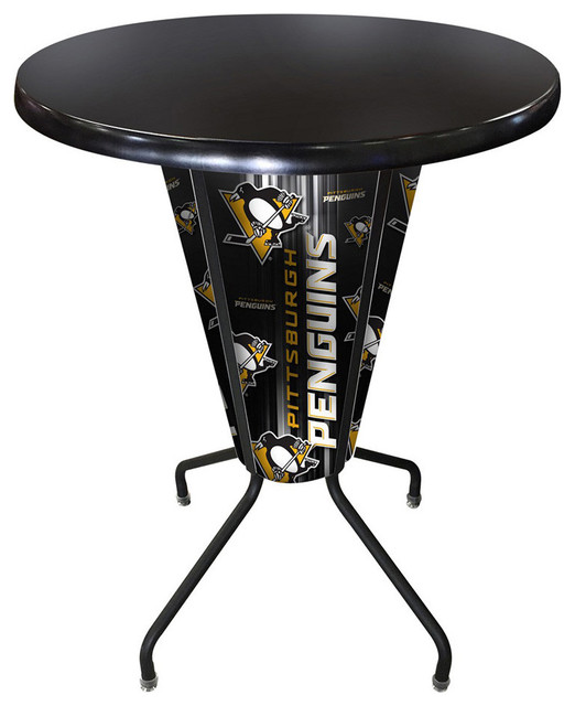 Pittsburgh Penguins Lighted Indoor Outdoor Table Traditional Outdoor Bar Stools And Counter
