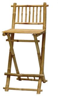 Bamboo Chair Folding Bar Stool, Set of 2