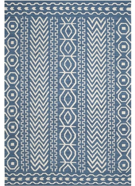 Safavieh Dhurries Dark Blue Contemporary Rug 2 6 Quot X4