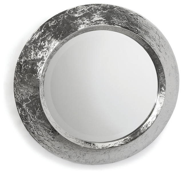 Plated Nickel Mirror, Convex Frame.