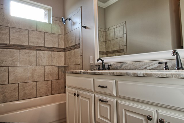Inspiration for a large transitional home design remodel in Dallas