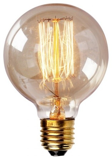 Edison tungsten globe filament vintage style light bulb industrial incandescent bulbs by Tungsten light bulbs