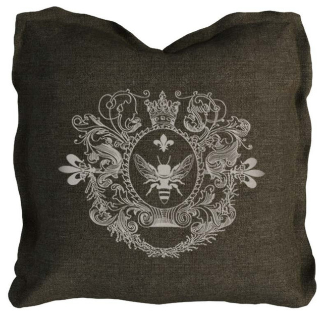 Brown Linen Throw Pillow : Curations Limited - Logo Pillow Brown Linen - View in Your Room! Houzz