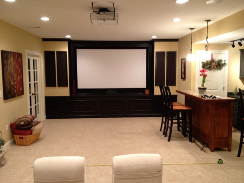 Help basement media room furniture layout for Room layout help