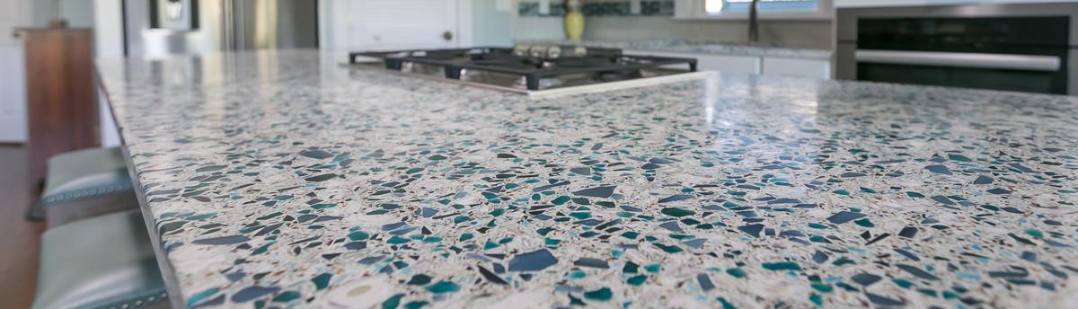 granite tile countertops on top of laminate