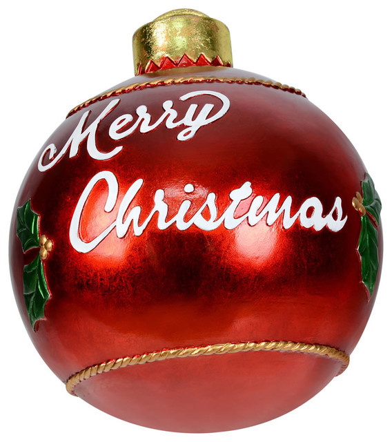 Red Christmas Ball Ornaments.17 Red Merry Christmas Ball Ornament
