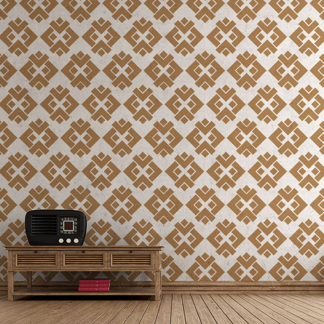 My Wonderful Walls Diamondback Pattern Wall Stencils For
