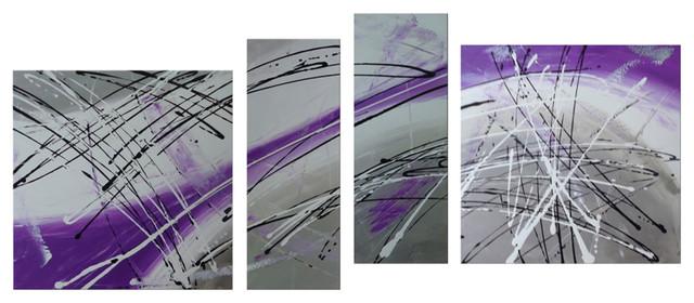 "Darco Arte ""composizione 717"" Painting, 35""x82""."