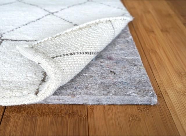 1 4 Inch Superior Felt Rug Pad For Hardwood Floors Non Slip 10x14