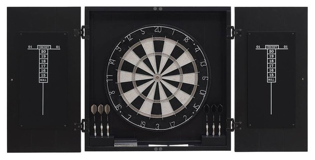 American Heritage Dart Board Cabinet Set View In Your