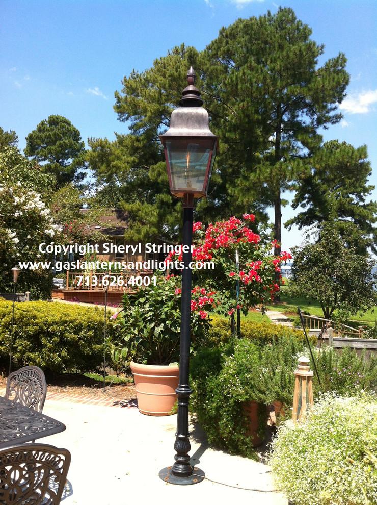 Extra Large Tuscan Post Mount Gas Lanterns by Sheryl Stringer
