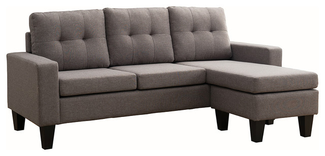 Douglas Sectional Sofa With Reversible Chaise Gray contemporary-sectional -sofas  sc 1 st  Houzz : couch with reversible chaise - Sectionals, Sofas & Couches