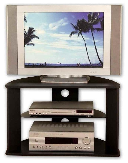 Corner Tv Stand Glass Shelf Entertainment Centers And Tv Stands