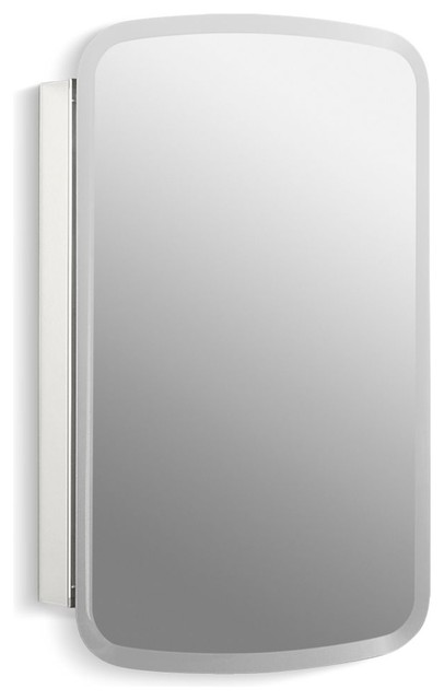 "Kohler Bancroft Aluminum 1-Door Cabinet/mirrored Door, Beveled Edges, 20""x31""."
