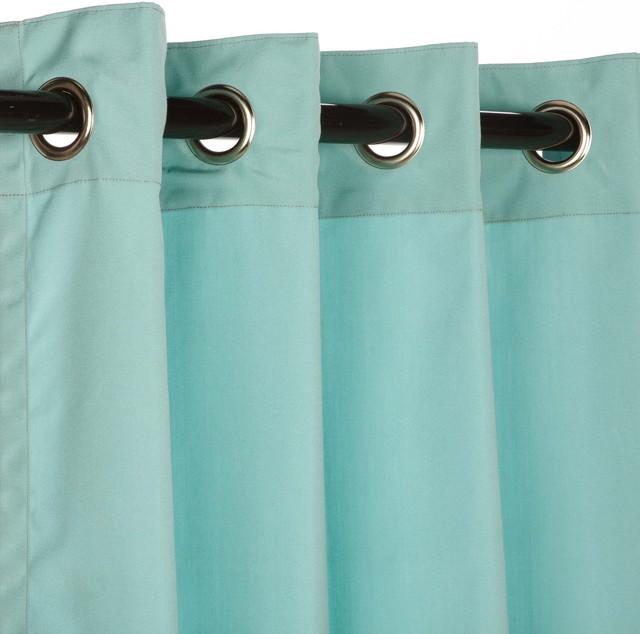 Sunbrella 84  Grommets Outdoor Curtains, Canvas Glacier.