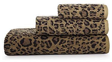 Leopard Towels Pink Hand Ralph Lauren Animal Print Uk