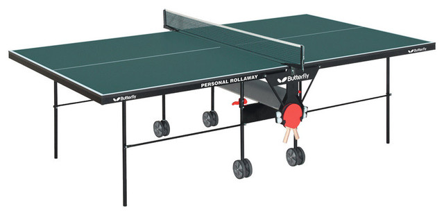 Rolling Ping Pong Table Contemporary Game Tables