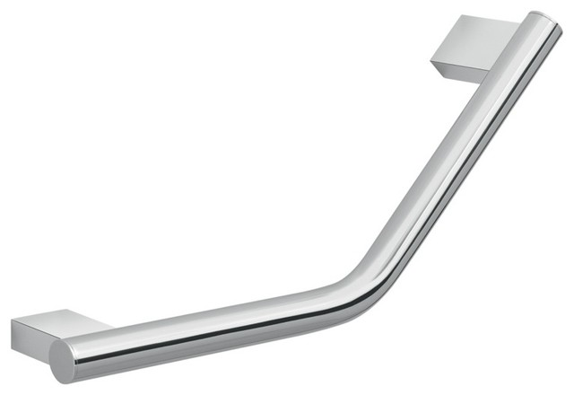 Decorative Round Chrome 13 Quot Wall Mounted Angled Grab Bar