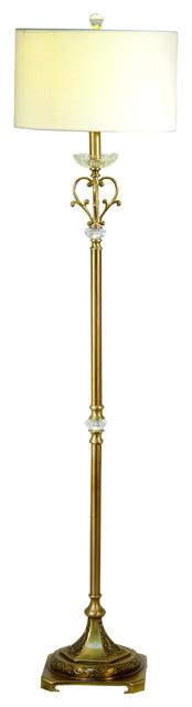 Springdale Asbee White Floor Lamp.