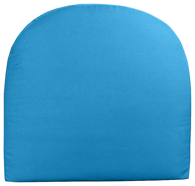 Sunbrella Dining Seat Cushion With Ties Contemporary Outdoor