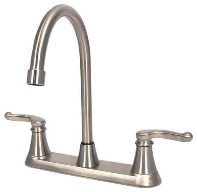 Sir Faucet Double Handle Kitchen Faucet, 7142 Model