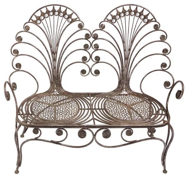 Brilliant Grand Peacock Metal Garden Love Seat Bench Andrewgaddart Wooden Chair Designs For Living Room Andrewgaddartcom