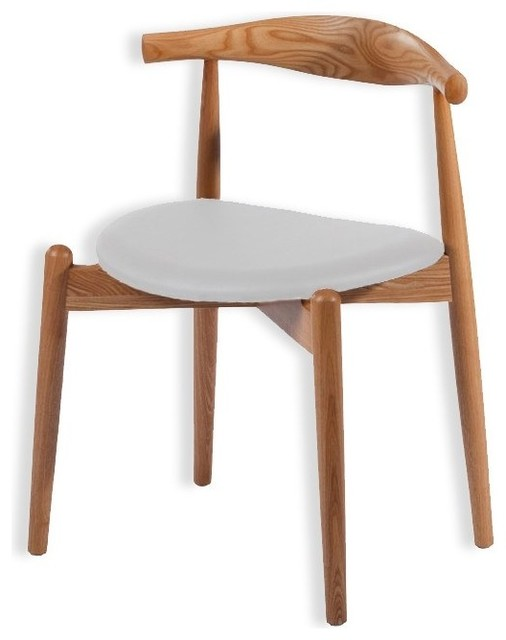 Simple solid ash wood dining chair natural wood walnut - Natural wood dining chairs ...